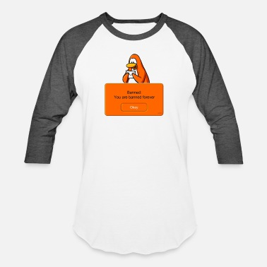 Satire Club Penguin Banned - Unisex Baseball T-Shirt