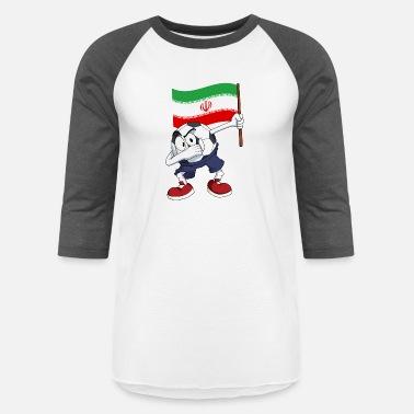 Iran Soccer Iran Dabbing Soccer Ball - Unisex Baseball T-Shirt 499639baf