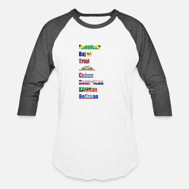 Caribbean Islands that rock - Baseball T-Shirt