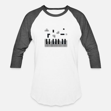 Hit the Brick Piano Keys - Unisex Baseball T-Shirt
