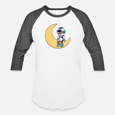 Cool funny Cute space astronaut - Unisex Baseball T-Shirt
