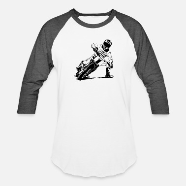 Track Flat Track Rider - Speedway Racing - Unisex Baseball T-Shirt