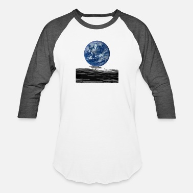 Earth Moon Earth from moon - Baseball T-Shirt