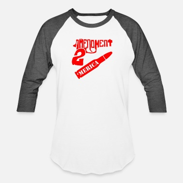 Amendment 2nd Amendment 'Merica ©WhiteTigerLLC.com - Unisex Baseball T-Shirt