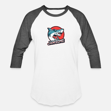Great White Awesome Shark Design - Unisex Baseball T-Shirt