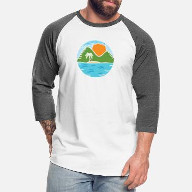 Pastel Aesthetic Land - Unisex Baseball T-Shirt