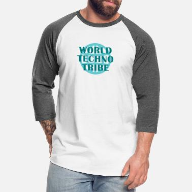 Treble Clef World techno tribe music gift raving concert - Unisex Baseball T-Shirt