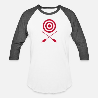 Archery Target And Crossed Arrows funny tshirt - Unisex Baseball T-Shirt