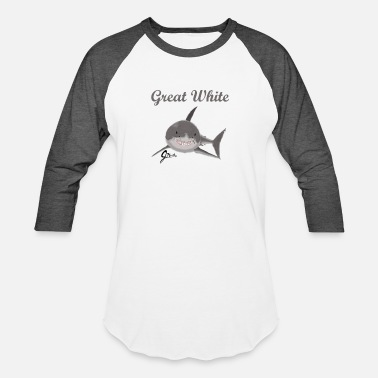 Great White Shark Great White Shark - Unisex Baseball T-Shirt