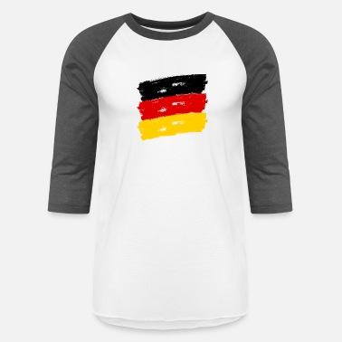 84c022bca Federal Republic Of Germany Fahne Deutschland handpainted - Unisex Baseball  T-Shirt