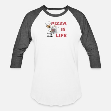Peace Love Pizza Pizza Is Love Pizza is life - Baseball T-Shirt