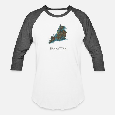 Neighborhood Manhattan manhattan, ny water - Baseball T-Shirt