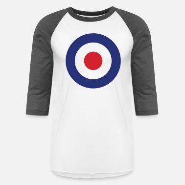 d234fb5a Target Bullseye Roundel British Bullseye War Plane Target Icon - Unisex  Baseball T-Shirt