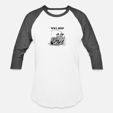Us Army Europe WW2 jeep - Unisex Baseball T-Shirt