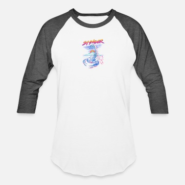 Stinger Stinger, Neon infused scorpion - Baseball T-Shirt