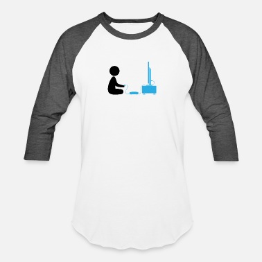 Arcade Boys A Boy Plays With His Games Console - Baseball T-Shirt