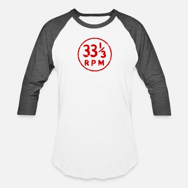 Vinyl 33 1/3 rpm vinyl record icon Geek Nerd - Unisex Baseball T-Shirt