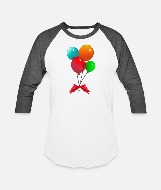 12th Birthday T-Shirts - Celebrate - Unisex Baseball T-Shirt white/charcoal