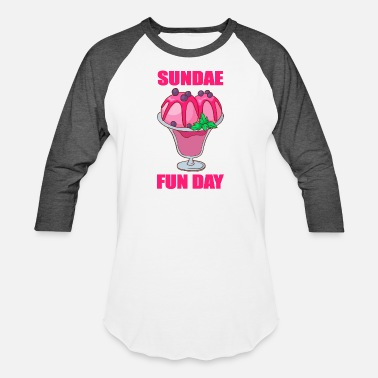Sherbet Ice cream Gelato Sundae Summer Sherbet Food - Baseball T-Shirt