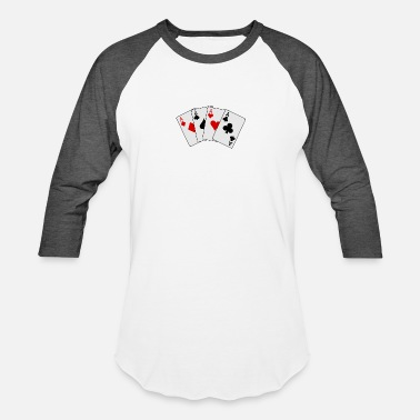 Lucky Aces cards 20clip 20art playing card2 - Baseball T-Shirt