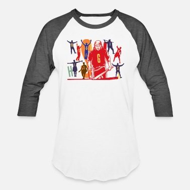 Hooligans Hooligans Silhouette Illustration - Unisex Baseball T-Shirt