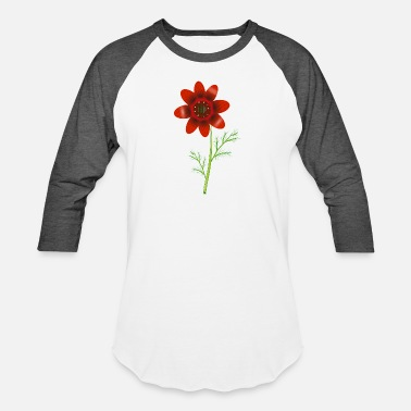 Floret Summer Adonis florets in bright red - Unisex Baseball T-Shirt