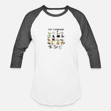 Cat Language - Unisex Baseball T-Shirt