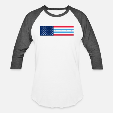 Chicago Rap usa chicago flag - Unisex Baseball T-Shirt