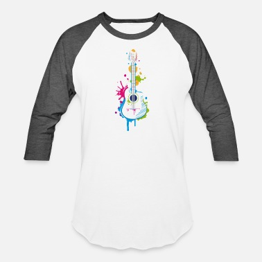 Instrument Graffiti guitar - Unisex Baseball T-Shirt