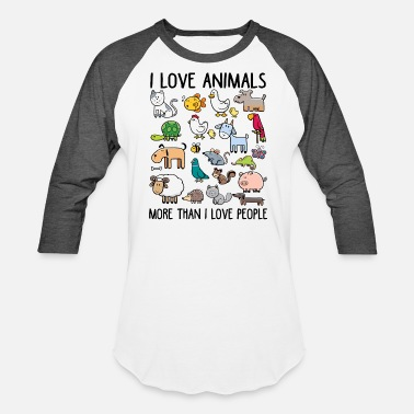 More I love animals more than I love people - Baseball T-Shirt