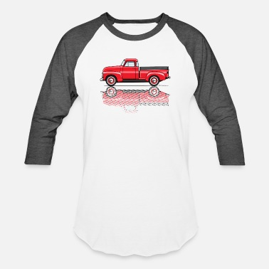 1949 Chevy Pickup 47 54 advance red truck - Baseball T-Shirt