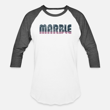 Marble Marble Pink Word - Baseball T-Shirt