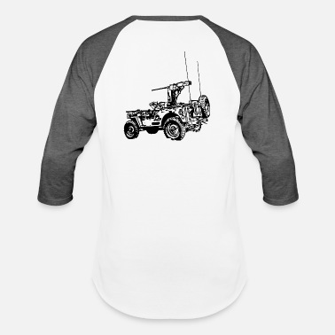 Army Star Sports Army_Jeep_Black - Baseball T-Shirt