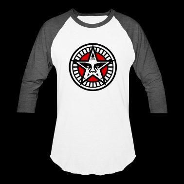 Obey Star Face - Baseball T-Shirt