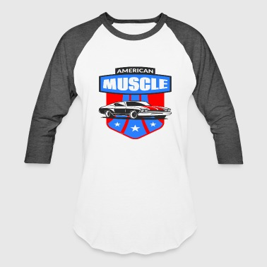 American Muscle Car - Baseball T-Shirt