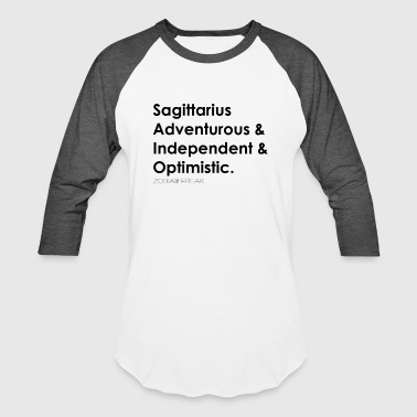 Sagittarius Black - Baseball T-Shirt