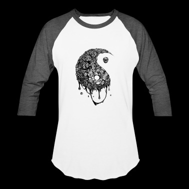 Yin Yang's Darkside - Baseball T-Shirt