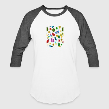 summer pattern background - Baseball T-Shirt