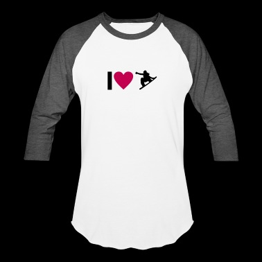 I love Snowboard - Baseball T-Shirt