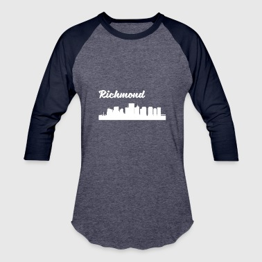 Richmond Va Richmond VA Skyline - Baseball T-Shirt