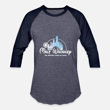 Disney Drinking Malt Whiskey The Happiest Drink On Earth - Baseball T-Shirt