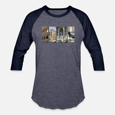 Detroit The monuments of ancient Rome - Unisex Baseball T-Shirt