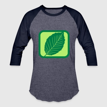 Cool Christian green cool button logo beech leaf tree plant shape - Baseball T-Shirt