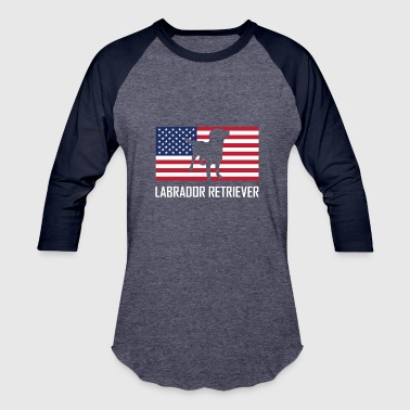 Flag Labrador Labrador Retriever American Flag - Baseball T-Shirt