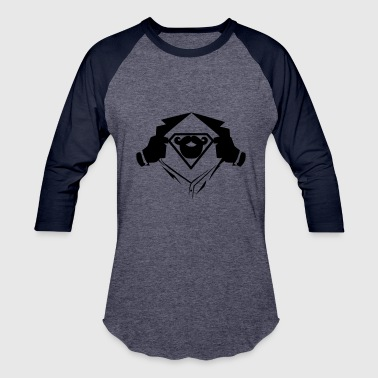 Superman chest beard - Baseball T-Shirt