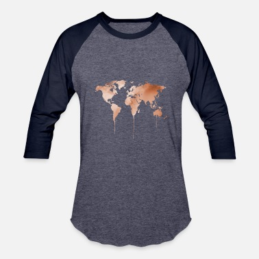 Landscape Worldmap - Baseball T-Shirt
