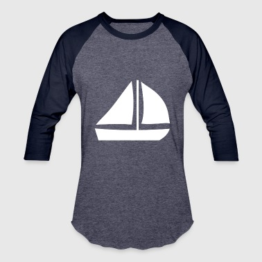 Sail Boat with two sails - Baseball T-Shirt
