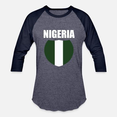 Flag Of Nigeria Nigeria Flag - Baseball T-Shirt