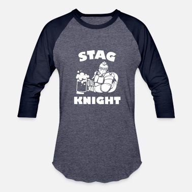 Stag Night Stag Night Stag Knight - Baseball T-Shirt