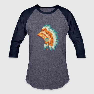 American Tradition Traditional Headdress American Indian - Baseball T-Shirt